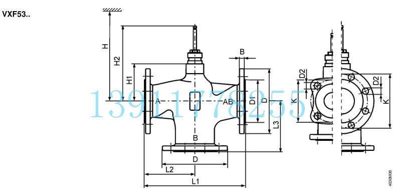流量曲线表   介质兼容性 和温度范围  应用场合  工程注意事项 安装位置 阀门宜安装在回程管道上, 这里的温度较低且密封函负荷也较低. VVF53.. 阀门作为蒸汽阀使用时, 要反向安装. 污物收集器 在阀门前安装过滤器或污物收集器以确保阀门调节功能, 和长时间的使用寿命. 从阀 门和管道中处除污物, 焊渣, 等等.